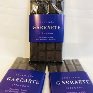 Tableta chocolate negro 60% cacao. Sin azucar
