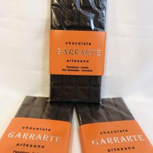 Tableta chocolate negro naranja 60% cacao. Sin azucar