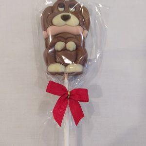 Piruleta de chocolate perrito