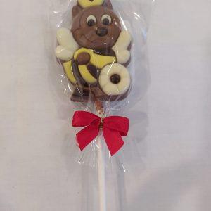 Piruleta de chocolate abeja