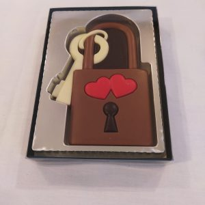 Candado de chocolate. Sin gluten.